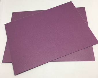 Purple Envelope and Flatcard set  / Card Stock  / Card Making  / Paper Stock / purple envelopes / purple flat notecards / notes