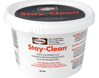 Harris Stay-Clean Paste Soldering Flux, 1 lb Jar, SCPF1