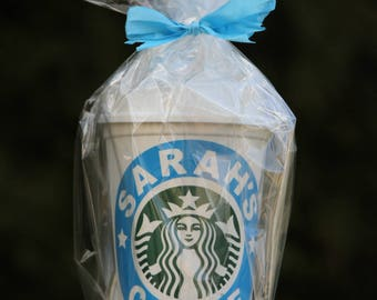Personalized Starbucks Pastic Tumbler with Lid