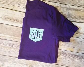Monogram Pocket T- Shirts - Monogram tee - Pocket Tee