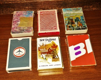 6 Full Decks of Airlines Playing Cards Delta American BI Airline Plane Playing Cards - Free Shipping