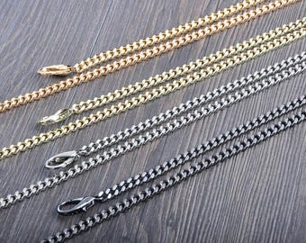 5mm Gold silver gunmetal Chain Strap purse strap handles bag hadnbag Purse Replacement Chains Purse Finished Chain straps High Quality