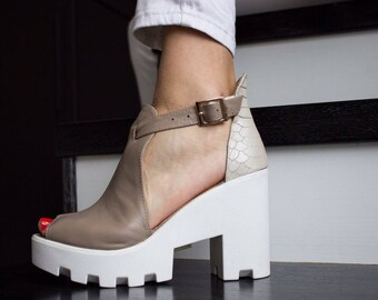Leather Sandals Leather Shoes for Women Leather Flats Casual Shoes Shoes with platform