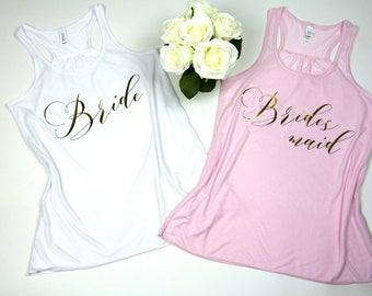 Bride shirt. Bachelorette party shirts. Bridal party shirts. Bachelorette party tanks. Bride gift. Wedding shirt. Bridesmaid gift.