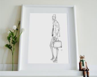 Alexander Wang Pre-Fall16 Fashion Illustration