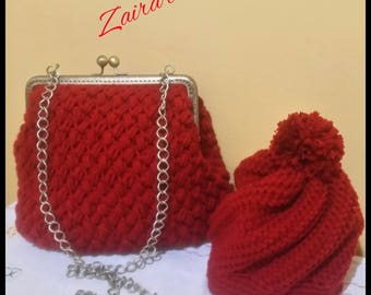 Hat and clutch bags