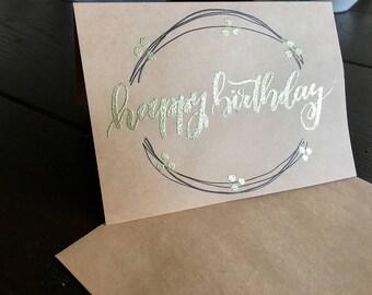 Happy Birthday Greeting Card - set of 5