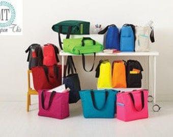 Set of 9 monogram ZipperTote bags, Bridesmaid Totes, Bridesmaid Gift, Wedding Party Gift, Monogram Bridesmaid gifts