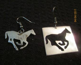 Horse Cutout Earrings