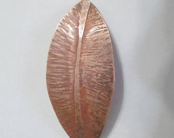 Copper Leaf Barrette