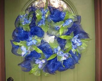 Mesh Door Wreath