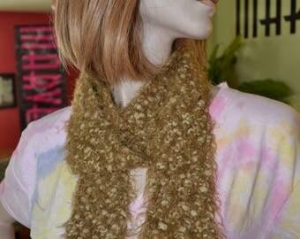 Soft Hand-Knitted Fun Fur Scarf