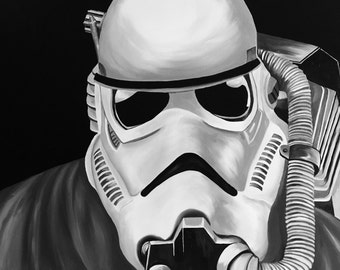 "Oil on Gallery Canvas ""Stormtrooper"""