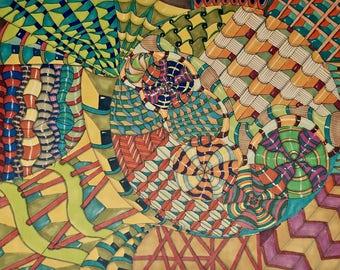 Zentangle Drawing 13February2016