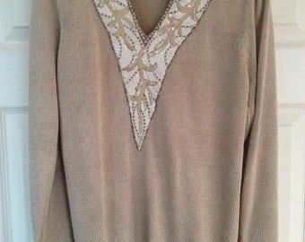 Vintage jumper with beaded detail