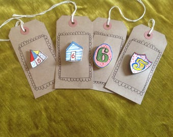 Handmade birthday badge / brooch, made to order