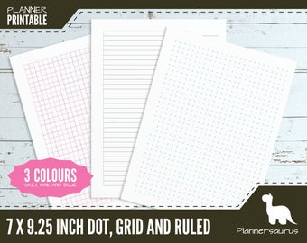 Dot grid planner paper printable | bullet journal | BuJo | Mambi Happy planner classic | grid template | ruled paper instant download | plan