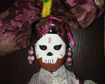 Mamma June voodoo witch doctor up cycle ooak doll