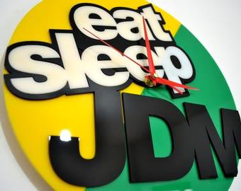 JDM wall clock Eat Sleep JDM