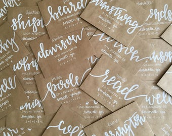 Envelope Addressing / Custom Envelopes / Calligraphy Addressing / Custom Address / Wedding Invitations / Party Invitations