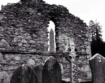 Ancient Round Tower, Glendalough, Co. Wicklow. Ireland.