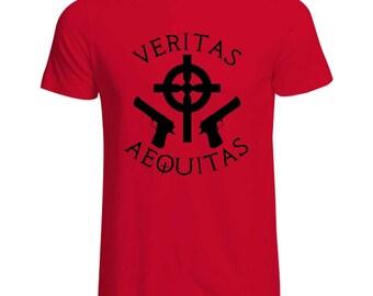 Boondock Saints  Veritas Aequitas Crest T shirt