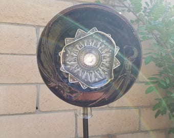 Decorative glass garden art