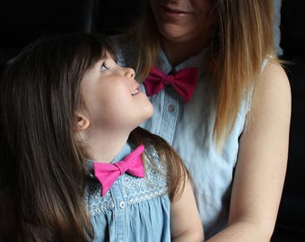 Bow tie adult and children, mother daughter duo