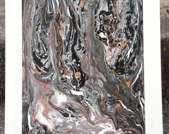 Molten Forest - Original Abstract Painting - Abstract art - fluid painting - poured painting - original painting - wall art - home decor