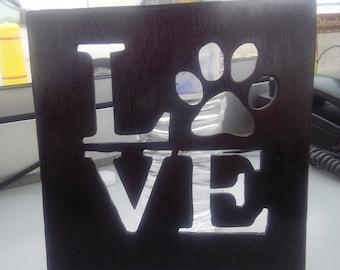 Dog lover plaque