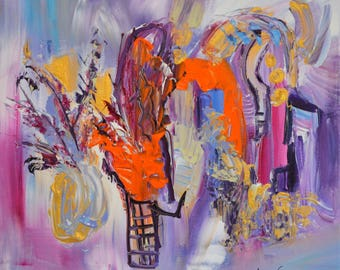 the wizard of flowers, contemporary abstract painting