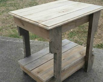 Rustic end tables.
