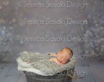 Digital background Newborn Composing bucket, instant download
