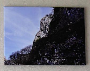 Cheddar Gorge Cliffs unique canvas print