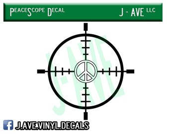 Peace Scope Vinyl Decal