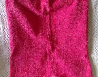 Pink hooded Mermaid tail Towel