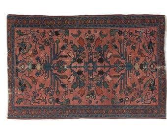 "Antique Persian Lilihan rug 'Elo' - 2'6""x4'"
