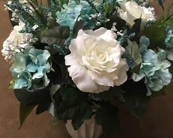Teal Tuscan Floral Arrangement