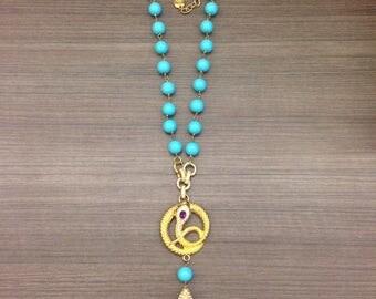 Swarovski Tear Drop Turquoise Vintage Necklace