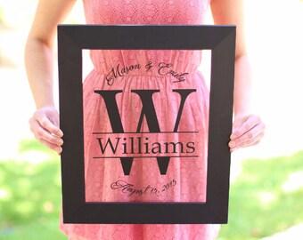 Personalized Family Sign Wedding Christmas Holiday Bridal Shower Gift Custom Home Decor #NVMHDA1609