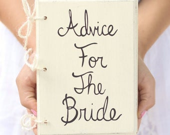 Bridal Shower Guest Advice Book by Steven and Rae Designs - Shabby Chic Wedding Decor (Item Number MHD20096)