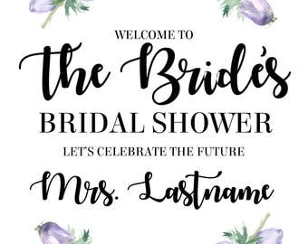 Customized Bridal Shower Welcome Sign Printable