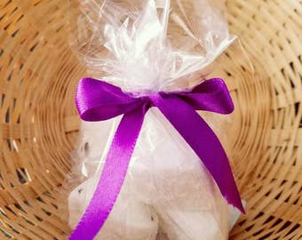 Mini Lavender Bath Bombs 6 Pack Bath Fizzy with Lavender Buds All Natural
