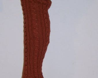 Overknees leg warmers with Merino Wool