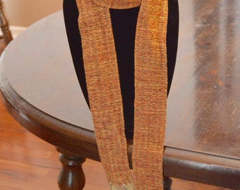 Handwoven rayon scarf - 60 in x 2 in