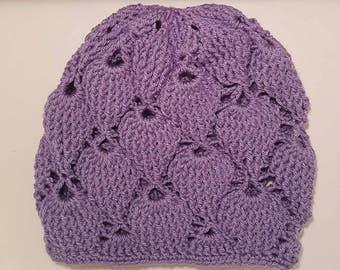 Ladies Slouch Berry Beanie - Purple