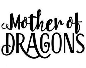 Khaleesi Mother of Dragons GOT Game of Thrones Horror Vinyl Car Decal Bumper Window Sticker Any Color Multiple Sizes