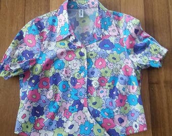 Vintage Moschino Crop Style Blouse