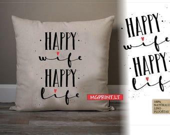 Decorative linen pillow