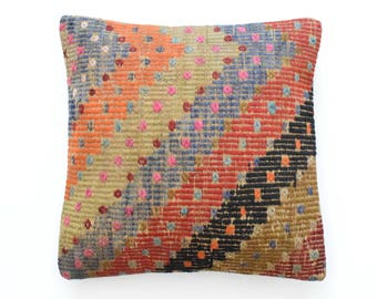 """Kilim pillow cover 20""""x20"""" (50x50cm) K33  slipcovers  pillow covers coussin kilim moroccan rug pillow slipcovers 20 pillow cover cuscino"""